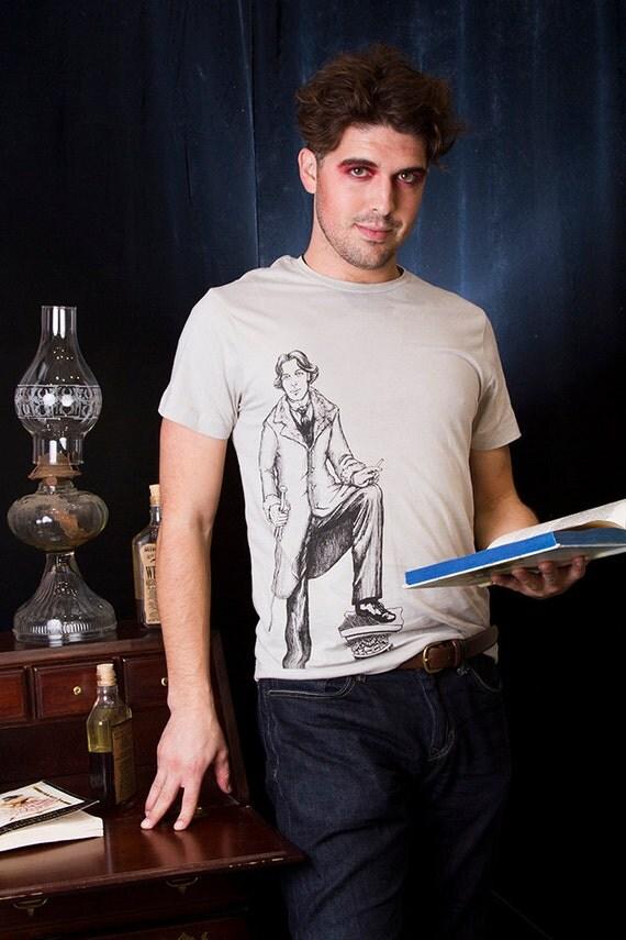 Men's Oscar Wilde TShirt Victorian Literary
