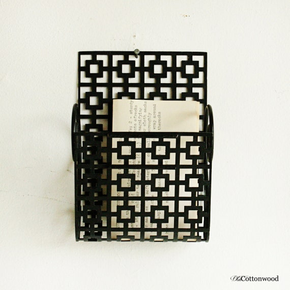 Vintage wire letter holders