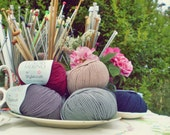 Truffle, Luxury Merino Double Knitting yarn, 50 gm ball, British Spun in soft cottage colours
