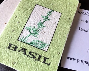 Basil Seeded Card - plant me!