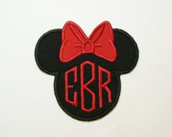Mouse Ears Embroidered Applique DIY Patch -100228