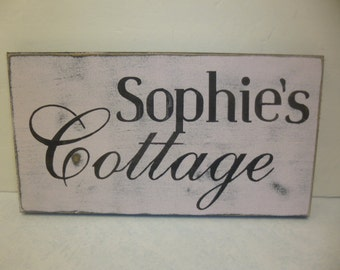 PERSONALIZED COTTAGE SIGN / made to order / custom sign / hand painted cottage sign / custom cottage sign / personalized / eco friendly sign