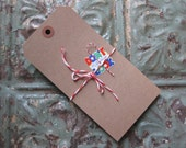 30 Medium Recycled Kraft Tags with Reinforced Hole, Gift Tags, Cards, Banners