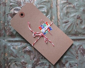30 EXTRA LARGE Recycled Kraft Tags with Reinforced Hole, Gift Tags, Cards, Banners