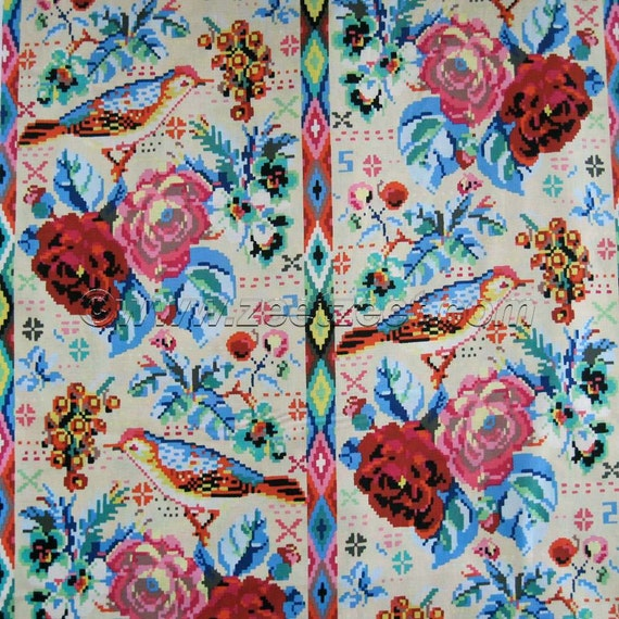 Amy butler celestial cream ab125 cotton quilt fabric hapi for Celestial fabric by the yard