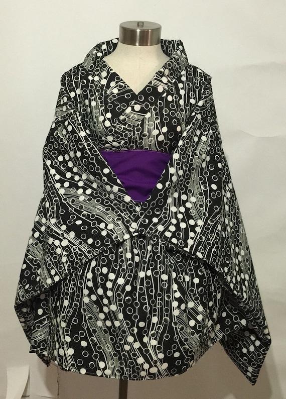 Simple Kimono Dress in Dots