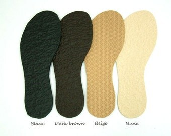 Thin PVC soles for my Felted shoes with stitching color beige, brown or black