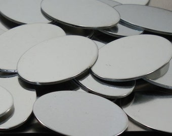 Pewter Stamping Blanks -  Ovals - stamping blank, metal blank, silver substitute, Bopper, metal stamping supplies