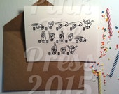 Happy Birthday Sign Language Greeting Card