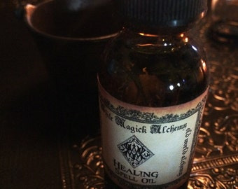 HEALING Spell Oil . Old World Alchemy . Health, Spiritual Well-Being, Blessings, Renewal . Pagan Wiccan Witchcraft