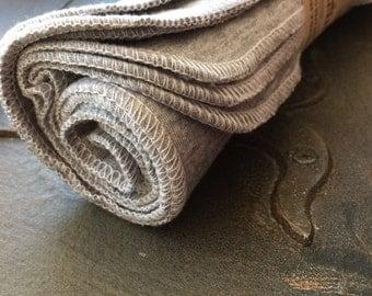 Eureka! Steel Grey Ecofriendly Organic BAMBOO Alternative to Facial Tissues - Full Size 8 by 10 Cloths With BONUS Mesh Laundry Bag