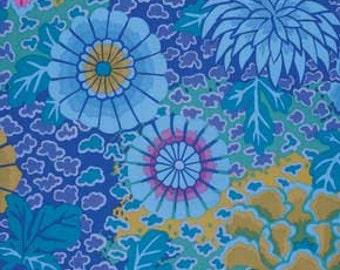 Kaffe Fassett Dream Blue Flowers Fabric 1 yard