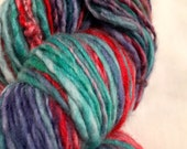 SALE Hand Painted Handspun Yarn - Superwash Merino - New Zealand