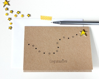 Handmade Congratulations Card  //  Well Done Card  //  You're a Star Card  //  Star