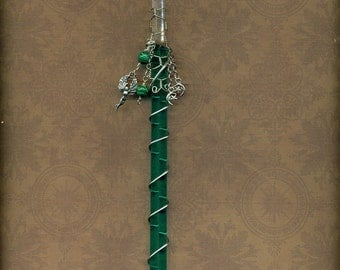 Clear Quartz and Malachite Love Healing Magic Wand