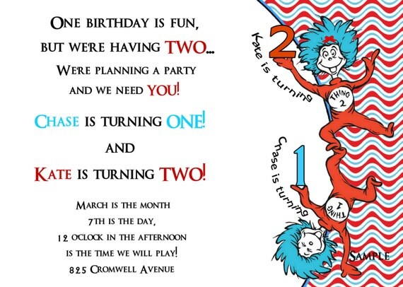 dr seuss birthday card template - dr seuss thing one thing two two birthday 39 s in one