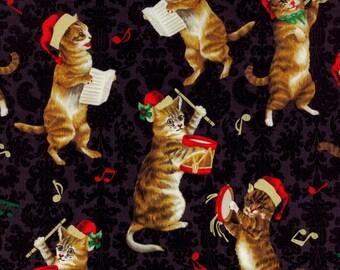 Hoffman Christmas Kitties J 9239 4G Black by the yard