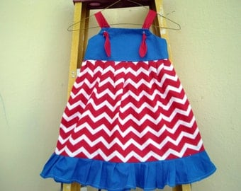 AMERICANA /Patriotic Knot Dress