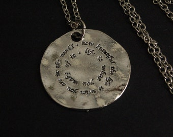 life is what you make of it saying necklace