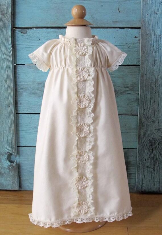 Dupioni Silk Baby Girl Baptism Dress Layla S Lace In