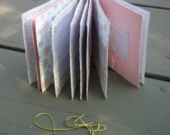 shrinky dink organize and display book - girls art - pink - pastel green - pockets