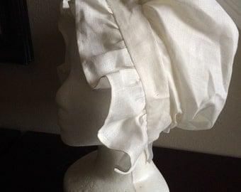 Handkerchief Linen Ruffled 18th Century Cap