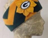 Green Bay Packers Fleece Head Band - Womens - Chevron Striped