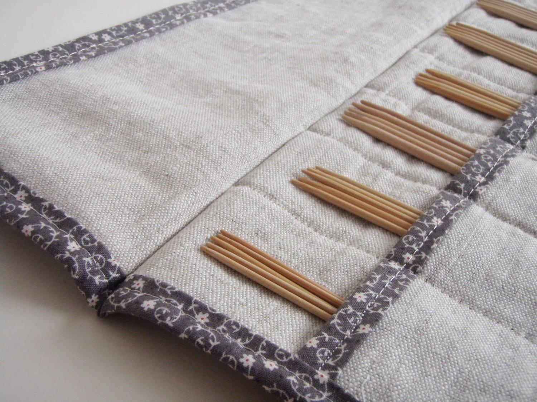 Knitting Needle Case Nz : Double pointed knitting needle case dpn holder gift for