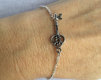 Steampunk Skeleton Key Bracelet, key bracelet, key jewelry,