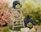 penguin wedding cake topper -----Special Edition (K448)