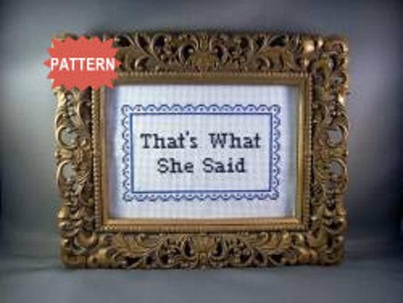 PDF/JPEG That's What She Said (Pattern)