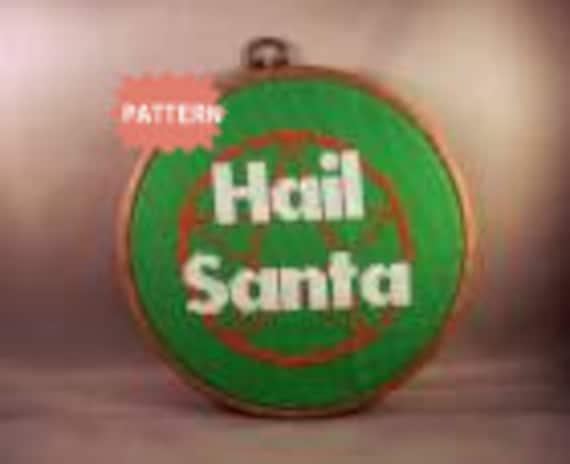 PDF/JPEG Hail Santa (Pattern)