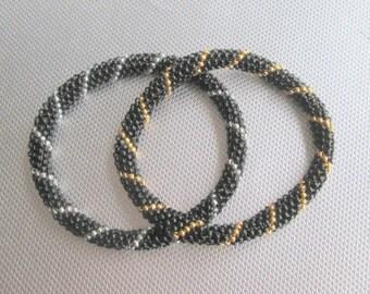 beaded jewelry roll on bracelet black nepal bracelet beaded bracelet black