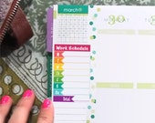 Left Column Work Schedule BRIGHTS - Instant Download - to fit your Erin Condren Weekly Boxes