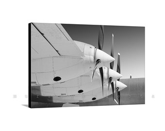 Aviation Gift, Airplane Art, Canvas Print, Propeller Picture, Aircraft Art, Canvas Wrap, Pilot Gift, Air Force, Aeronautical Art, Convair