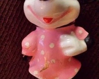 "Vintage Minnie Mouse Figurine 3"" tall 1950's made in japan"