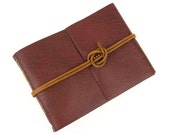 Leather Memory Book: Oxblood and Tan leather scrapbook, photo album, wedding planner, memorial book. Extra Large A4, Large A5 or Medium A6