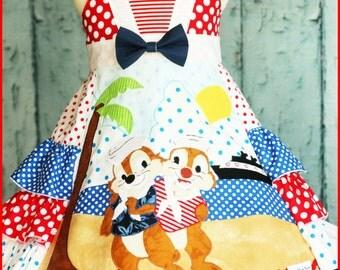 "Girls Chip ""n Dale Custom Cruise Dress sizes 3 4 5 6 7 8 9 10"