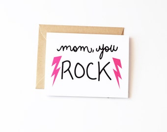 Mom, You Rock Mother's Day Eco Recycled Card