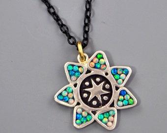 Starburst Mosaic Necklace