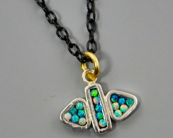 Triangle Mosaic Pendant Necklace