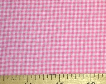 Fat Quarter -Tiny gingham print in pink by Michael Miller Fabrics CX4834-PINK-D