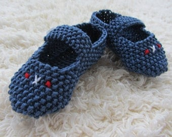 Hand Knitted Cotton Baby Shoes