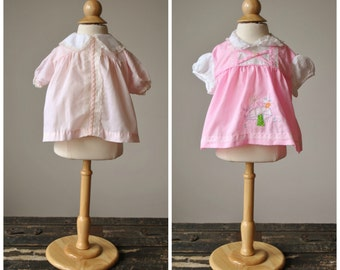 1970s Set of 2 Baby Girl Summer Tops~Size 3-6 Months