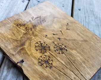 Custom Wedding Guest Book -Dandelion