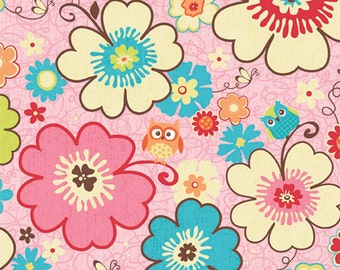 Clearance FABRIC HAPPY FLAPPERS Main Floral print by Riley Blake  1/2 Yard