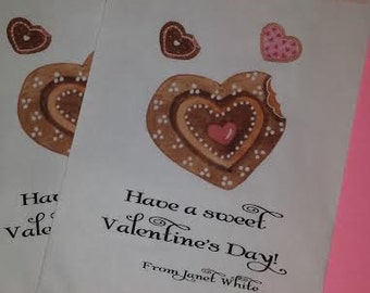 Valentine, Valentines Day, Candy Bar, Candy Buffet, Favor Bags, Moustache, Cookie Bag, Treat Bags, Personalized Bags, 25 bags
