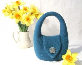"""Felt Handbag Small Purse Knitting Pattern """"Charlotte"""""""""""