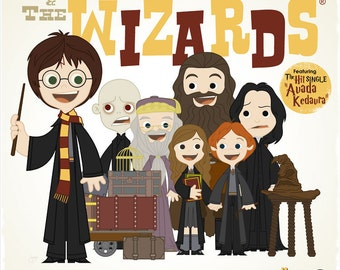 Harry and the Wizards - 12.5 X 12.5 PRINT