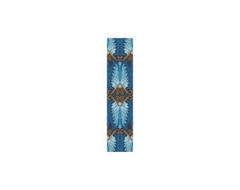 Egyptian Feathers #2 Loom or Peyote Cuff Bracelet Bead Pattern